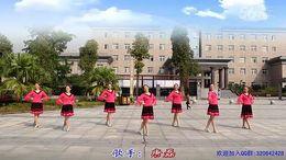 重庆永川区王坪恋蝶广场舞《落花的窗台》原创三步舞 团队正背面演示