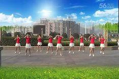 吉美广场舞《康电情歌》原创民族健身操 附正背面口令分解教学演示