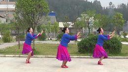 蝶舞广场舞《今世有缘》原创舞蹈 团队正背面演示