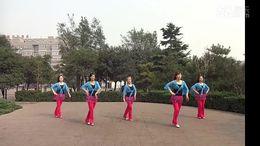 陕西三三广场舞《达令我爱你》原创舞蹈 团队正背面演示