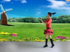 太湖一莲广场舞《放歌走天下》原创舞蹈 附正背面口令分解教学演示