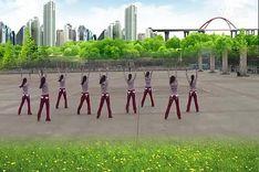吉美广场舞《飞舞荧光棒》原创舞蹈 团队正背面演示