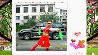谢春燕广场舞《蔚蓝的故乡》原创蒙古筷子舞 正背面演示