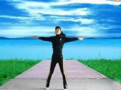 太湖一莲广场舞《自由飞翔》原创现代健身舞 附正背面口令分解教学演示