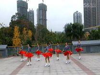 俏木兰广场舞《美好时代》原创排舞 团队正背面演示
