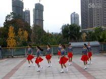俏木兰广场舞《魅力恰恰》原创排舞 团队正背面演示