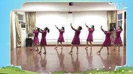 桃花垠广场舞《阿斯古里》原创舞蹈 正背面演示