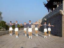 俏木兰广场舞《意大利桑巴》原创舞蹈 团队正背面演示