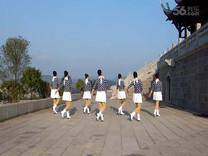 俏木兰广场舞《蓝色大树》原创舞蹈 团队正背面演示