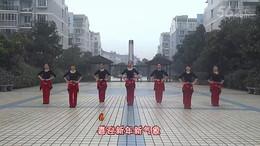 盛泽雨夜广场舞《猴年大吉棒棒哒》原创舞蹈 团队正背面演示