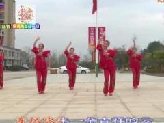 杨丽萍广场舞《喜庆临门》原创拜年舞 附正背面口令分解教学演示