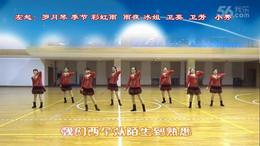 盛泽雨夜广场舞《红色大巴车》原创舞蹈 附正背面口令分解教学演示