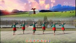 鑫舞飞扬千千舞情广场舞《风中的额吉》编舞応子 团队正背面演示