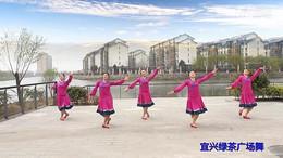 宜兴绿茶广场舞《风中的额吉》编舞応子 正背面演示