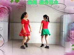鄂州益馨广场舞《火火的时代》原创双人对跳舞 正背面演示