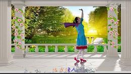 天使之翼广场舞《心中的女神》原创舞蹈 正背面演示