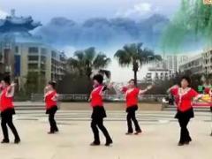 谢春燕广场舞《爱的世界只有你》原创舞蹈 团队正背面演示