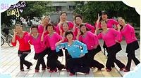 谢春燕广场舞《俏太太就是俏》原创舞蹈 团队正背面演示