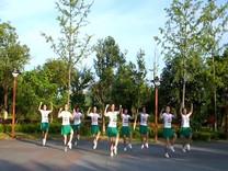 俏木兰广场舞《爱情针线》原创舞蹈 团队正背面演示