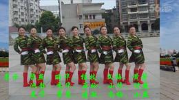 高安飞扬广场舞《八一军旗红》原创