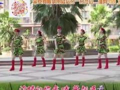 杨丽萍广场舞《当兵就是那么帅》原创励志健身操 附正背面口令分解教学演示