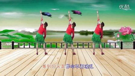 武安市东寺庄广场舞《来生愿做一朵莲》编舞青儿 正背面演示
