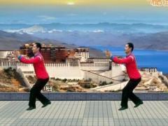 凤凰六哥广场舞《西藏情歌》原创舞蹈 附正背面口令分解教学演示