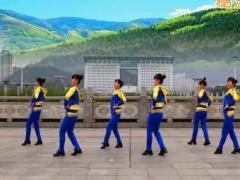 吉美广场舞《雪花飘飘》原创健身操 附正背面口令分解教学演示