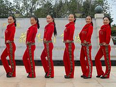 杨丽萍广场舞《我的好妹妹》原创瘦腰健身操 附正背面口令分解教学演示