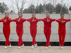 杨丽萍广场舞《过年好》原创迎新年舞 附正背面口令分解教学演示
