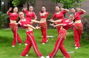 杨丽萍广场舞《欢乐的玩》原创印度风格健身操 附正背面口令分解教学演示