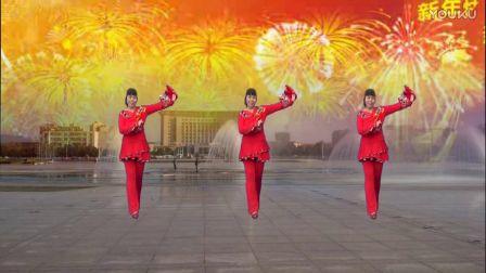 武安市东寺庄广场舞《向大家拜年》编舞青春飞舞 正背面演示