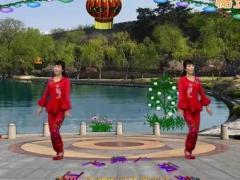 龙游红飞舞广场舞《万事如意新年好》原创舞蹈 附正背面口令分解教学演示