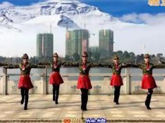 春英广场舞《雪山姑娘》原创水兵舞 附正背面口令分解教学演示