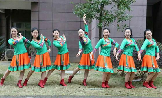 杨丽萍广场舞《情哥去南方》原创民族舞 附正背面口令分解教学演示