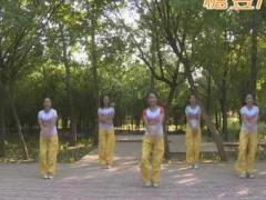 龙都舞动晨韵广场舞《神奇的九寨》原创有氧健身操 附正背面口令分解教学演示
