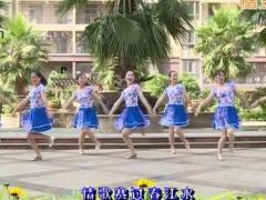 杨丽萍广场舞《情歌赛过春江水》原创民族舞 附正背面口令分解教学演示