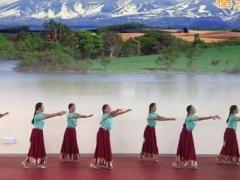 应子广场舞《山歌的故乡》原创舞蹈 附正背面口令分解教学演示
