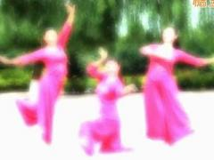云裳馨悦广场舞《愿做鸳鸯不羡仙》原创古典舞 附正背面口令分解教学演示
