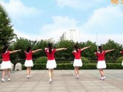 沭河之光广场舞《康定情人》原创健身舞 附正背面口令分解教学演示