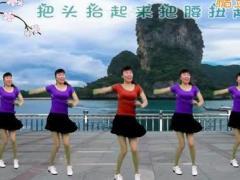 龙游红飞舞广场舞《幸福跳起来》原创舞蹈 附正背面口令分解教学演示