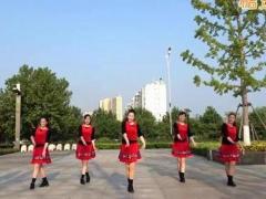 沭河之光广场舞《爱情就像一首歌》原创健身舞 附正背面口令分解教学演示