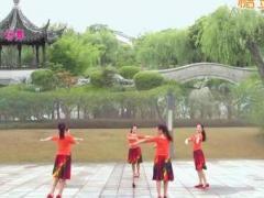 苏州雨夜广场舞《月朦胧鸟朦胧》原创圆圈舞 附正背面口令分解教学演示