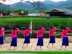 江西鄱阳春英广场舞《红梅花又开》原创舞蹈 附正背面口令分解教学演示