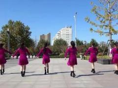 沭河之光广场舞《新老婆最大》广场健身舞 正背面演示及口令分解动作