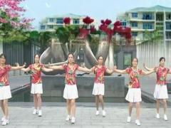 丽丽自由广场舞《花桥情歌》原创16步入门舞 附口令分解动作教学演示