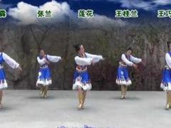 兰州莲花广场舞《一朵云在蓝天飘过》原创附正反面演示及分解动作教学