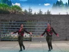 飞舞广场舞《水蓝蓝》原创水兵舞 团队正背面演示