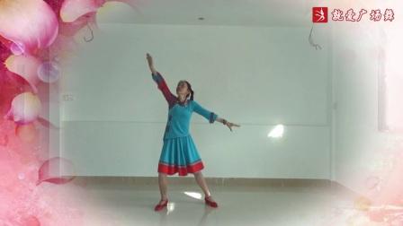 官涌舞飞飞广场舞《心中的西藏》原创舞蹈 附正背表演口令分解动作分教学