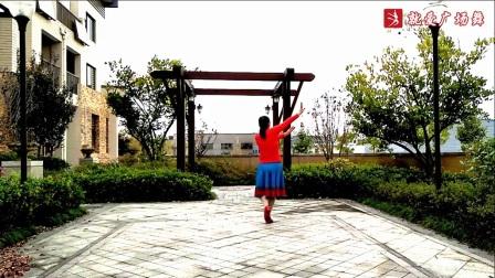 天使之翼广场舞《心中的西藏》原创舞蹈 正背面口令分解动作教学演示